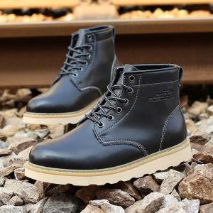 Men Winter Casual Leather Martin Boots,cool Shoes -