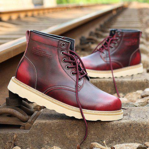 Unique Men Winter Casual Leather Martin Boots,cool Shoes