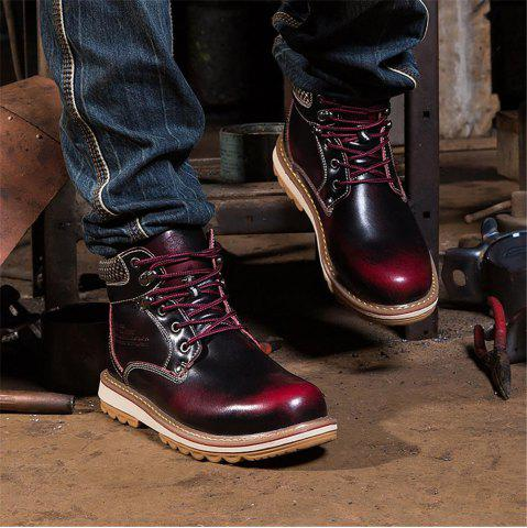 Fashion Men Winter Casual Leather Martin Boots,cool Shoes