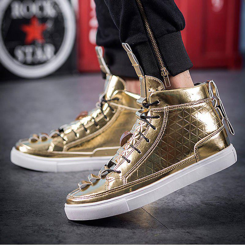 Latest Men High Top Shoes,Autumn Hip Hop Casual Shoes