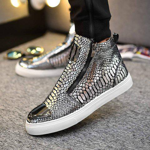 Chic Men's Fashion High Top Loafers, Leisure Sneakers Hip Hop Shoes