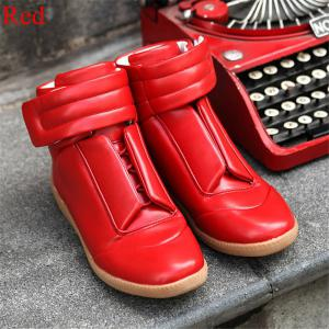 Men Winter Hip Hop Ankle Boots,leather Mens Shoes -