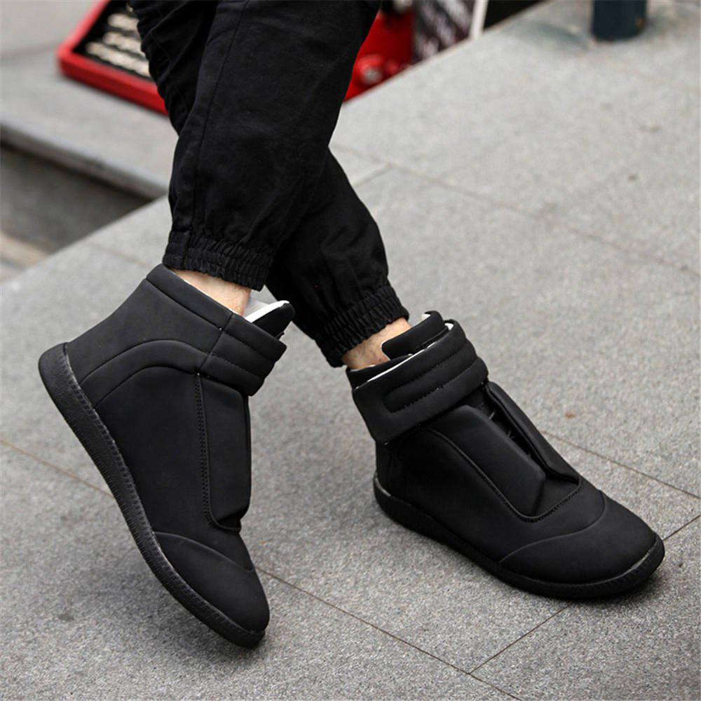 Unique Men Winter Hip Hop Ankle Boots,leather Mens Shoes