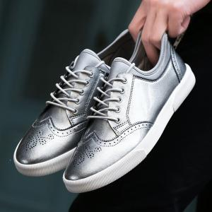 Spring Personality Carved Casual Shoes Men's Shoes -