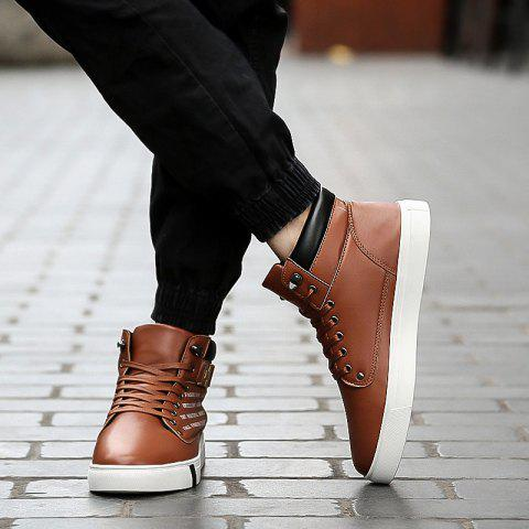 Online Winter Plus Cashmere Warm Men's Shoes Hip-hop Shoes