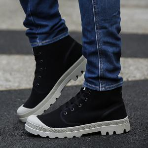 Men's High Top Ankle Boots Lace Up Sports Shoes Casual Sneakers Cool Shoes Hip Hop Shoes -