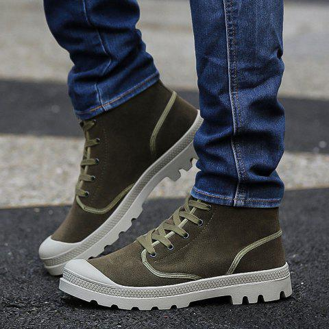 Latest Men's High Top Ankle Boots Lace Up Sports Shoes Casual Sneakers Cool Shoes Hip Hop Shoes