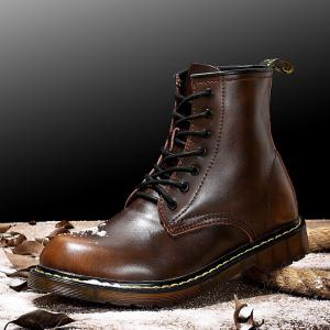 Winter Plus Cashmere Shoes Martin Boots Men Boots Retro Boots Snow Boots -