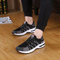 Men's Casual Breathable Sports Shoes Lace Up Sneakers Outdoor Running Shoes Mesh Shoes -
