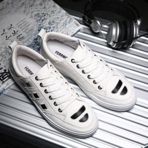 Men's Casual Sports Shoes Outdoor Lace Up Running Shoes Slip-on Loafers Flats Shoes -