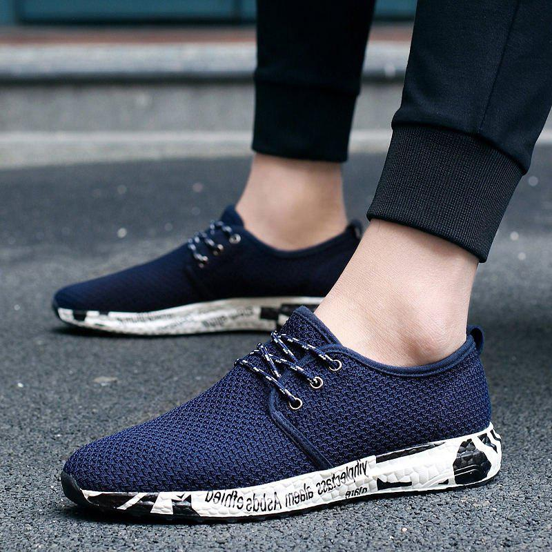 Unique Men's Casual Breathable Mesh Shoes Sports Shoes Outdoor Running Shoes Net Shoes Sneakers
