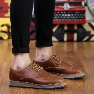 Men's British Style Business Shoes Lace Up Flats Leather Shoes Oxford Shoes -