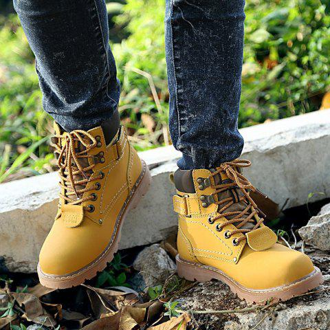 Trendy 2017 New Men's Shoes In The High-help Tooling Shoes Shoes Round Head with Rubber At The End of Martin Boots