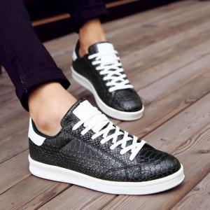 Men Spring and Autumn Casual Snakeskin Pattern Leather Shoes,leisure Skateboard -