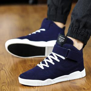 Men Fashion Winter High Tops Hip Pop Leather Casual Outdoor Shoes 4 Colors -