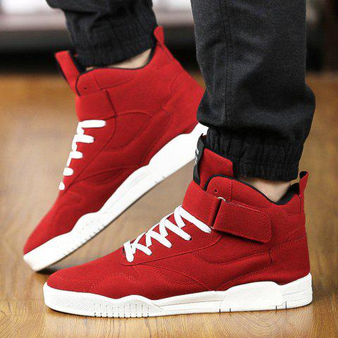 Outfit Men Fashion Winter High Tops Hip Pop Leather Casual Outdoor Shoes 4 Colors