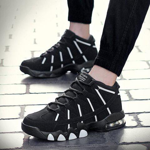 Unique Men Outdoor Ankle Boots Men Lace Up Sports Shoes High-top Basketball Boots Athletic Shoes Running Shoes