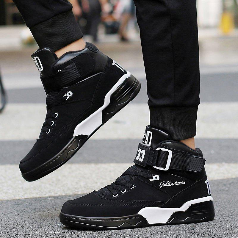 99cf03285 Best Men High Top Sneakers Cool Hip Hop Shoes Outdoor Sports Shoes  Basketball Boots