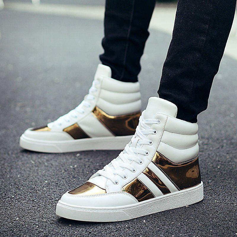 43dccf246fde Best Mens Casual High Top Sneakers Lace Up Sports Shoes Hip Hop Style Ankle  Boots