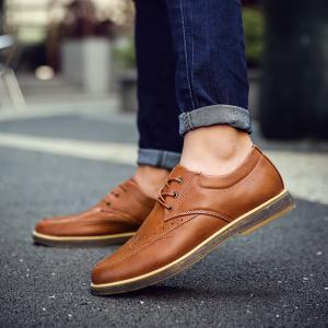 Men's Casual Leather Shoes Slip-on Loafers Lace Up Dress Shoes Business Shoes -