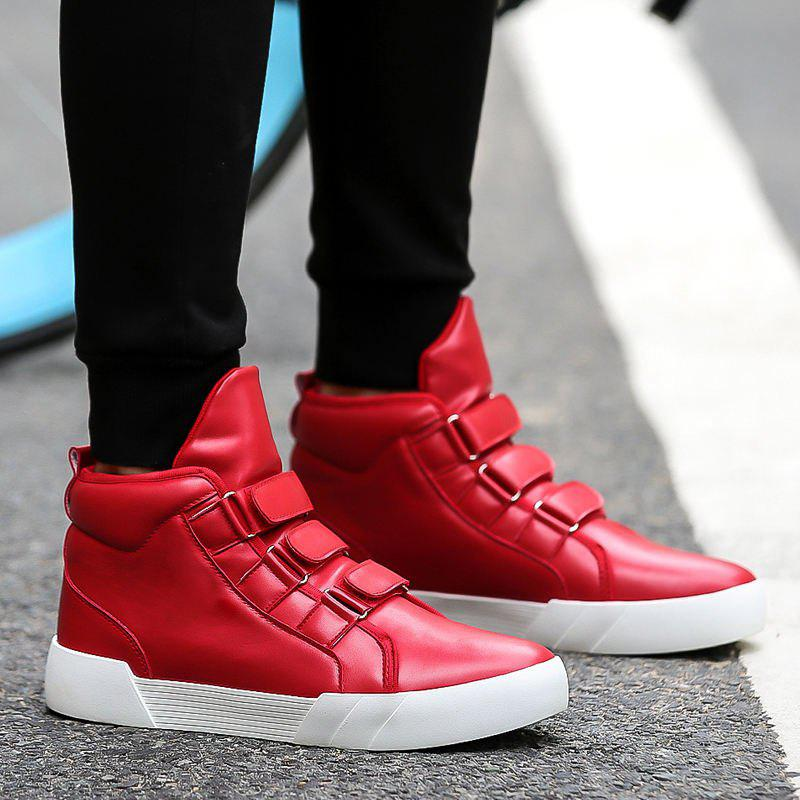 3c1aa221bc Mens Hip Hop Style High Top Sneakers Lace Up Sports Shoes Cool Shoes