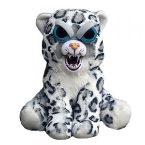 Snarl Adorable Plush Stuffed Polar Snow Leopard Toy with Face-changing Function -