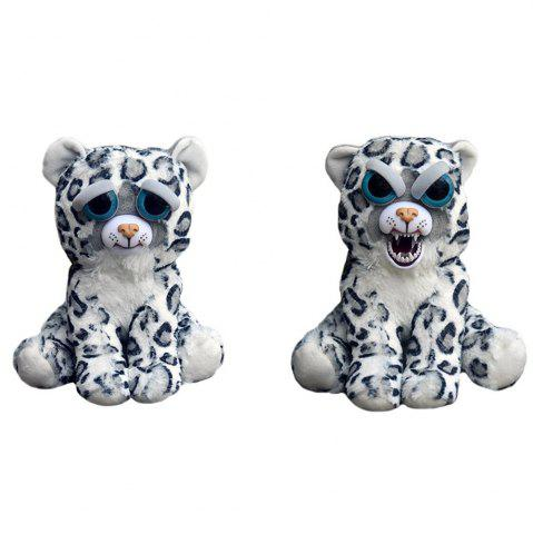 Sale Snarl Adorable Plush Stuffed Polar Snow Leopard Toy with Face-changing Function