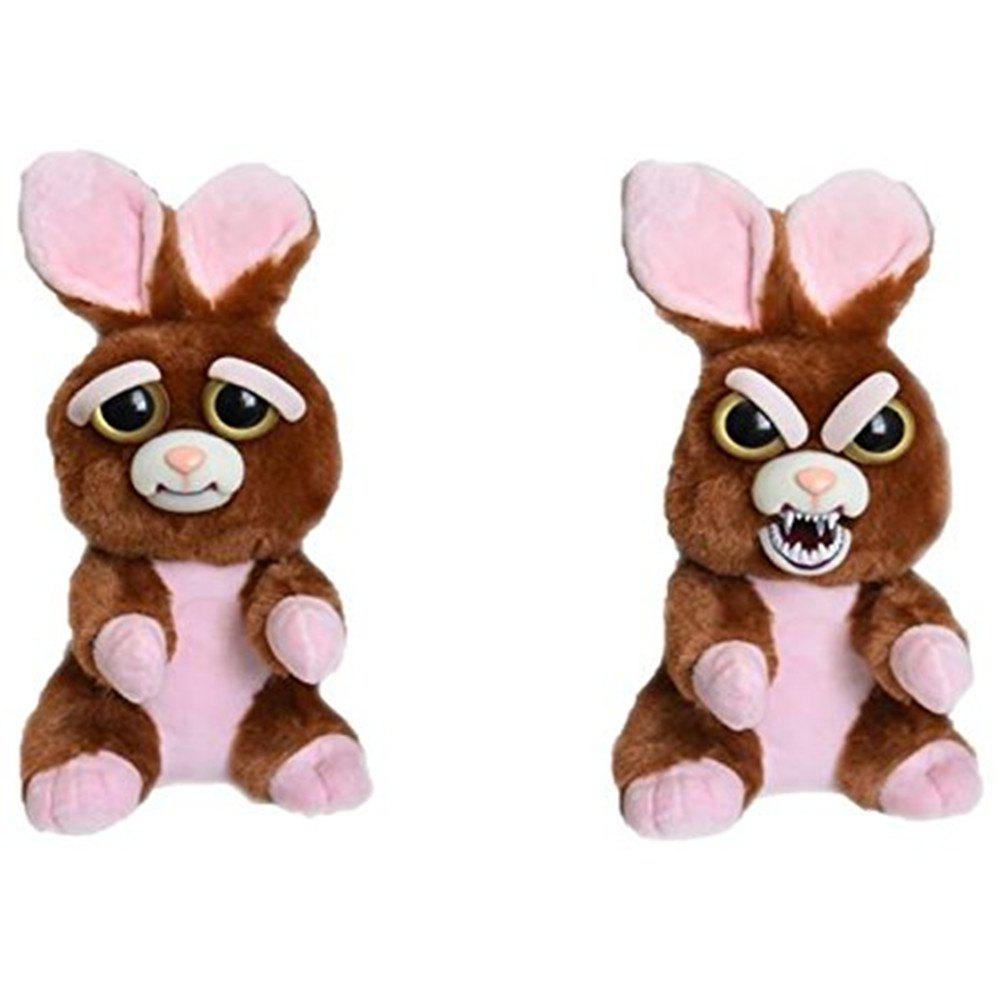 New Snarl Adorable Plush Stuffed Polar Christmas Rabbit Toy with Face-changing Function