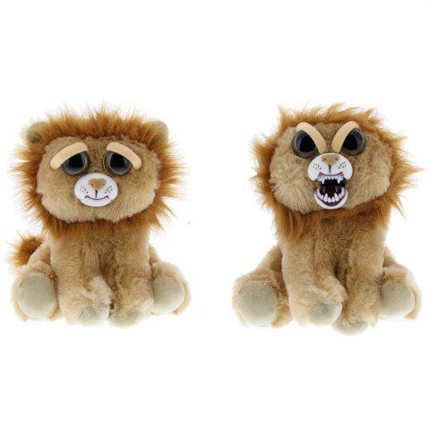 Shop Snarl Adorable Plush Stuffed Polar Lion Toy with Face-changing Function