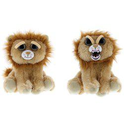 Snarl Adorable Plush Stuffed Polar Lion Toy with Face-changing Function -