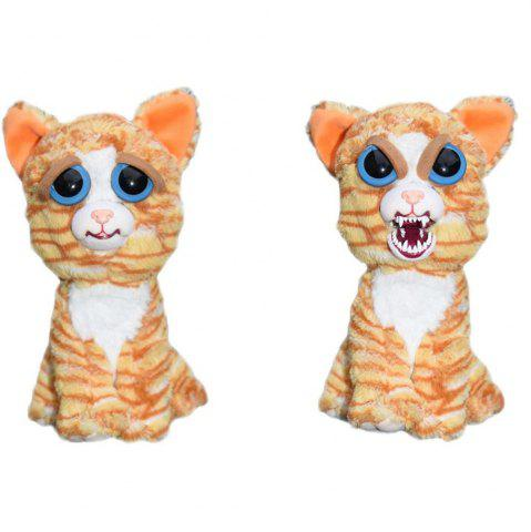 Best Snarl Adorable Plush Stuffed Polar Cat Toy with Face-changing Function