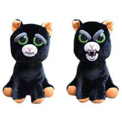 Snarl Adorable Plush Stuffed Polar Christmas Cat Toy with Face-changing Function -