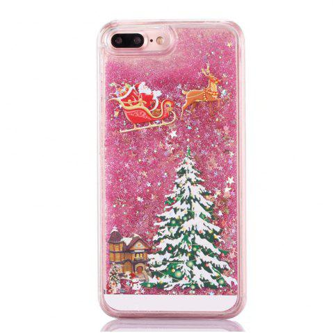 Latest Christmas Element Liquid Sparkle Floating Luxury Protective Bumper Silicone Cove for iPhone 7 Plus / 8  Plus