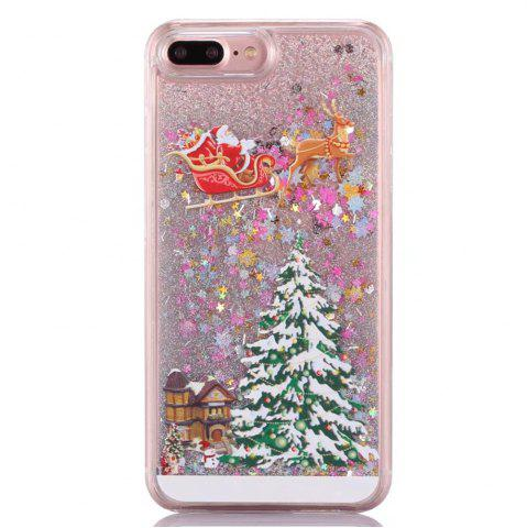 Affordable Christmas Element Liquid Sparkle Floating Luxury Protective Bumper Silicone Cove for iPhone 7 Plus / 8  Plus