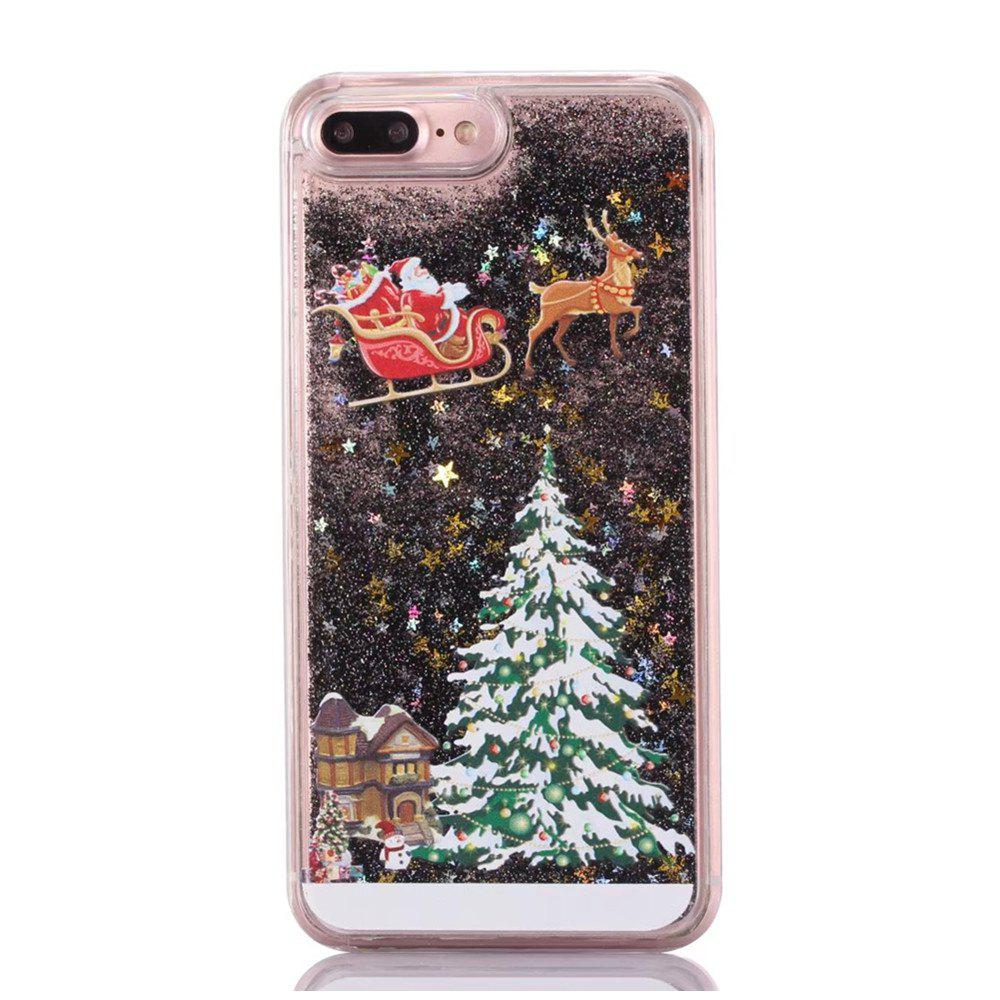 Fancy Christmas Element Liquid Sparkle Floating Luxury Protective Bumper Silicone Cove for iPhone 7 Plus / 8  Plus