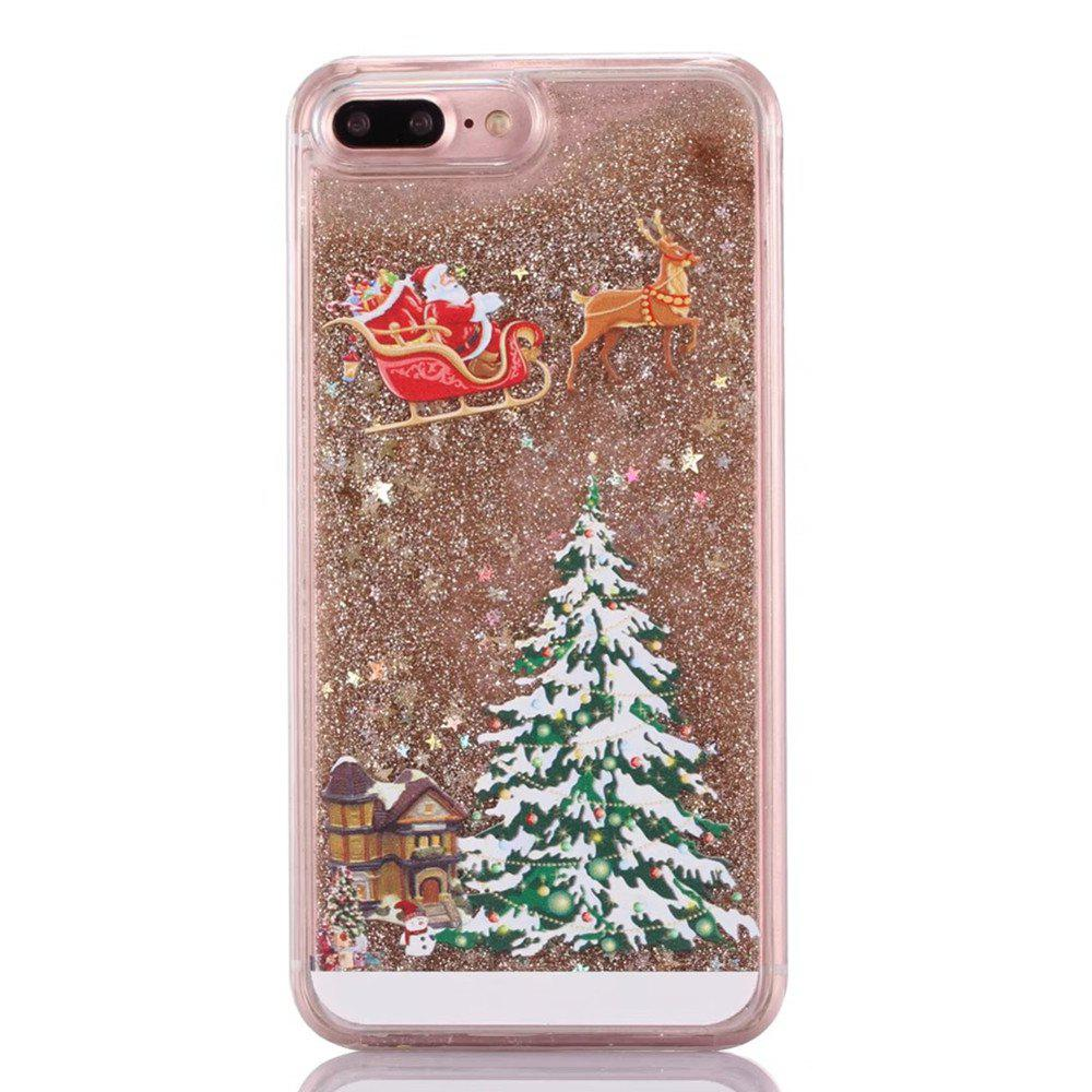 Shops Christmas Element Liquid Sparkle Floating Luxury Protective Bumper Silicone Cove for iPhone 7 Plus / 8  Plus