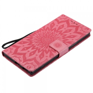 Embossed Sun Flower PU TPU Phone Case for Sony Xa1 Ultra -