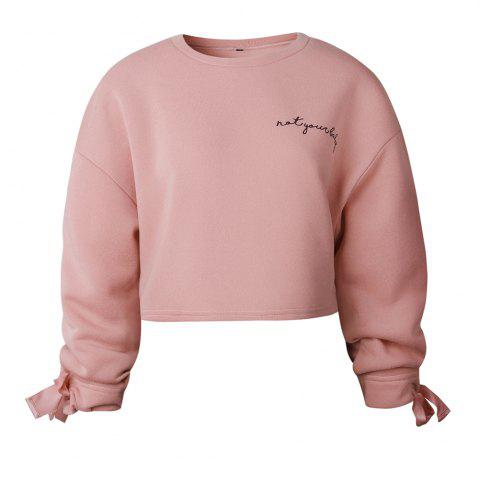 Outfit 2017 Autumn Winter Sleeves Tied Fashion Sweatshirt