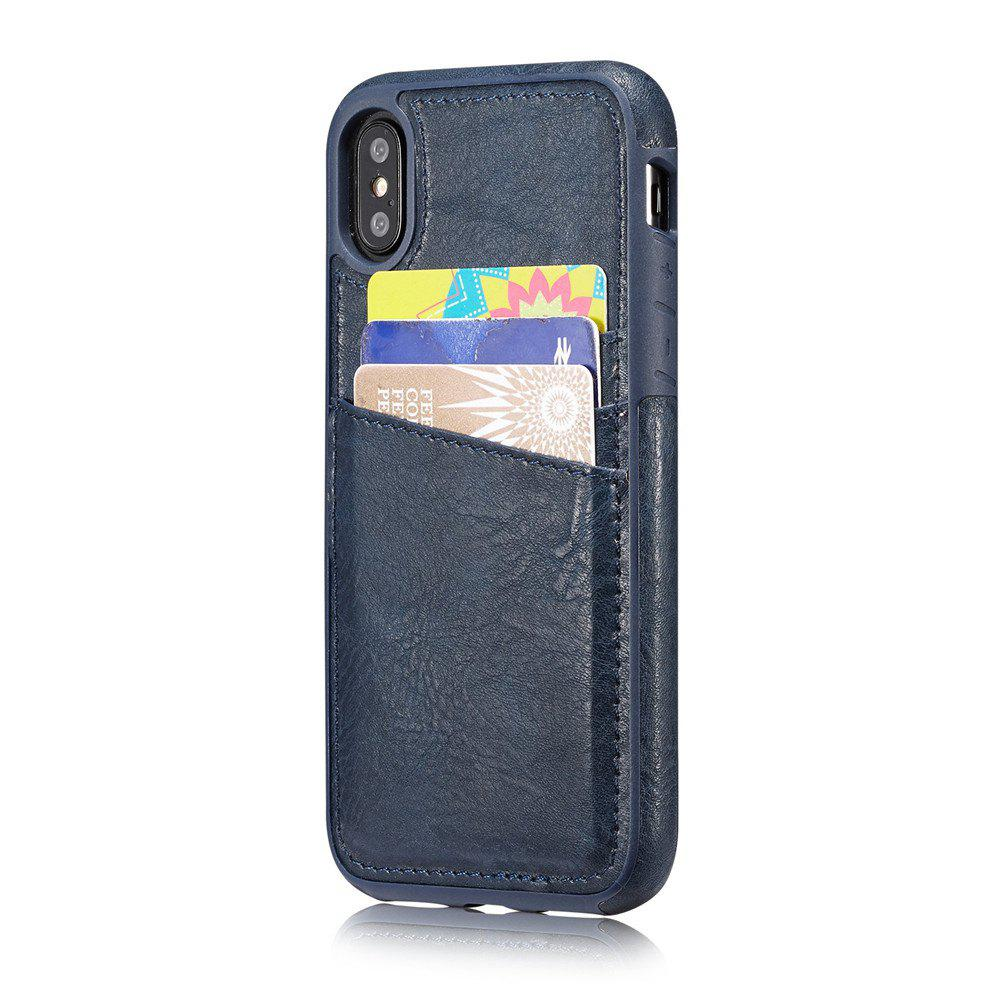 Store Wallet Slim Leather Back Case with Credit Card Holder for iPhone X