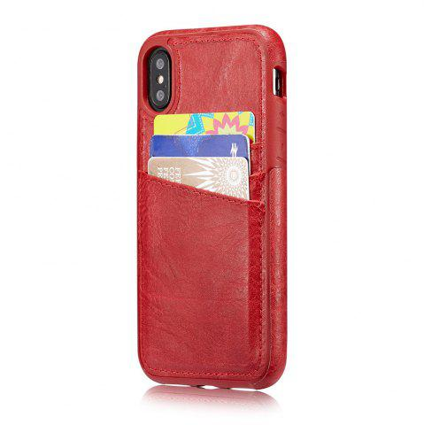 Outfits Wallet Slim Leather Back Case with Credit Card Holder for iPhone X