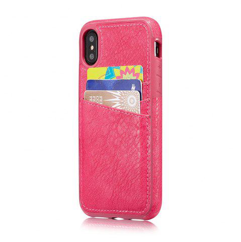 Online Wallet Slim Leather Back Case with Credit Card Holder for iPhone X