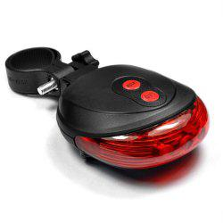 Rear LED Cycling Bicycle Bike Flash Taillight 2 Lasers 5 LED -