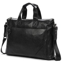 Dandu New First Layer of Leather Business Gentleman Horizontal Handbag Computer Bag -