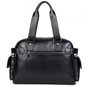 Dan Jue Cross Section Shoulder Messenger Handbag Leather Briefcase Business Bag -