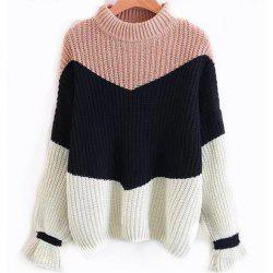 Round Neck Long Seeved Sweater -