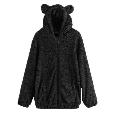 Unique Women's Casual Fashion Big Size Hooded Fur Coat