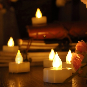 Set of 12 Tea Light with Timer -