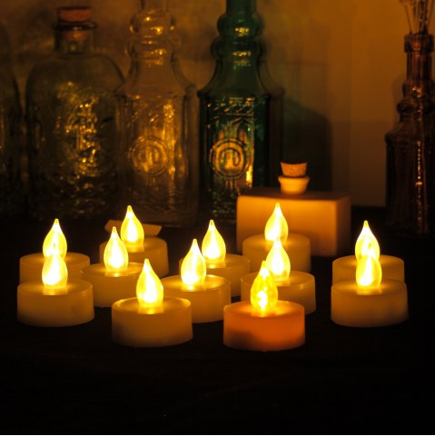 Hot Set of 12 Tea Light with Timer