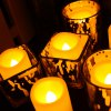 Set of 10 Flameless Votive Candles with Remote and Timer -