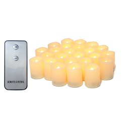 Set of 24pcs Realistic Flameless Votive Candles Bright Battery Operated -
